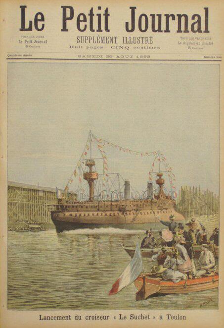 """Le cuirassé """"le Formidable"""" (1885) - Page 6 LancementscuirassesA"""